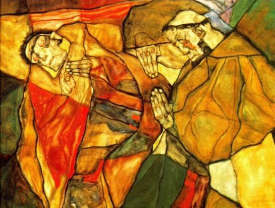 Egon Schiele - Agony