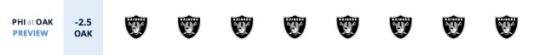 Raiders over Eagles