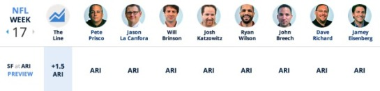 CBSSports Experts - Week 17
