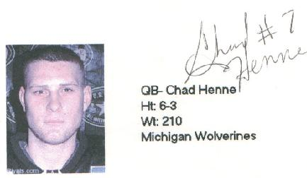 Chad Henne ID