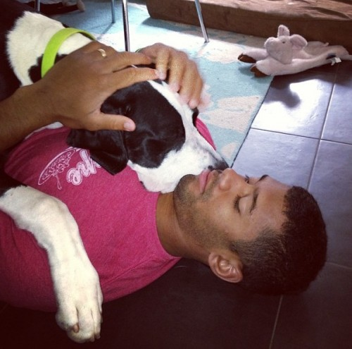Russell WIlson Loves His Dog