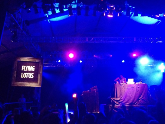 Steven Ellison, better known as Flying Lotus, performing at the 2012 Bonnaroo Music & Arts Festival.